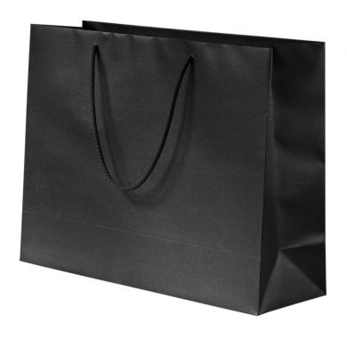 Glittery Black Paper Bag With Rope Handles 56 13x39cm